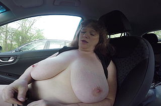 Cum Drop Sally Parking Lot Masturbation