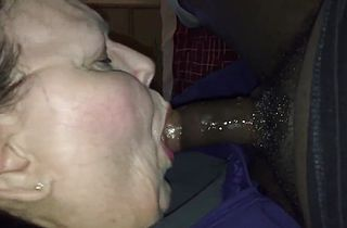 old bbw sucks and swallows black cock sloppy