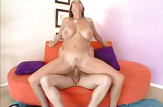 Mature blonde BBW Slut and her own hot boy toy