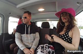 Sarah in Nacho Takes Over the Bus!!!  Video