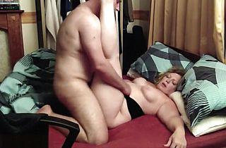 BBW slut getting fucked in a...