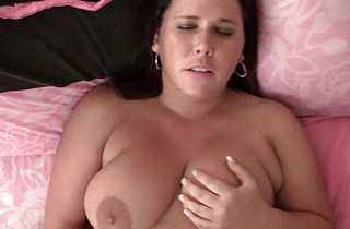 Cheating Big Boobs Babs Masturbates wildly for her boyfriend