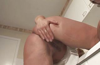 Massive-Breasts-Mother Id Like To Fuck Dildoing And Posing In Kitchen And Shower