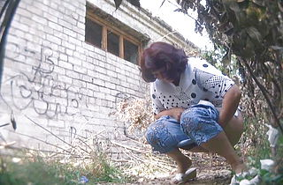 Mature Women Pissing Outside